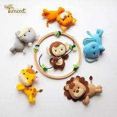 Crochet ideas that you'll love Felt Animal Patterns, Felt Crafts Patterns, Felt Crafts Diy, Stuffed Animal Patterns, Baby Crafts, Crafts For Kids, Baby Crib Mobile, Felt Baby, Felt Decorations
