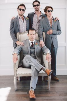 Groomsmen in Grey | Fall Winery Wedding | Evangeline Lane Photography | Bridal Musings Wedding Blog