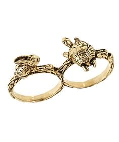 tortoise and hare double ring - so cute