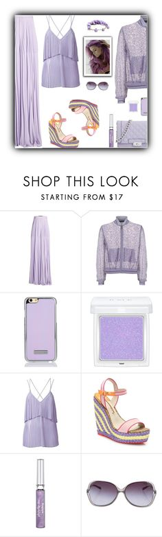 """""""Monochrome Top and Pants with Multicolored Shoes"""" by cayla-dy ❤ liked on Polyvore featuring Elie Saab, RMK, My Little Pony, Sophia Webster, Sisley, Tiffany & Co. and Forever 21"""