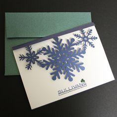 "Laser cut holiday card - ""Snowflakes"""