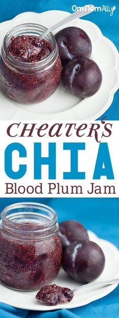 Cheater's Chia Blood Plum Jam @OmNomAlly