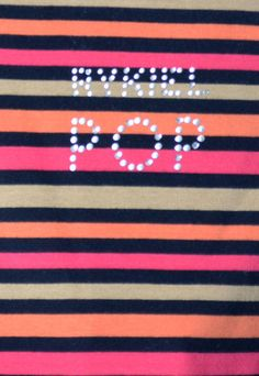 e21fbf7cd21 2 Pc Sonia Rykiel POP Rhinestone Vintage Striped Tops France