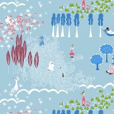 Moomin Valley, Kids Patterns, Fika, Curtains, Illustration, Poster, Inspiration, Collection, Design