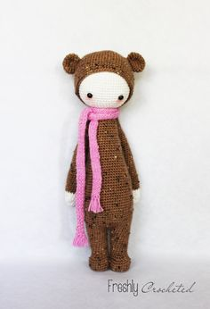 Bina the bear, crocheted doll, MADE TO ORDER