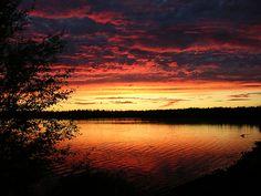 Summer night in Ruka. Magic, but real. via Flickr.