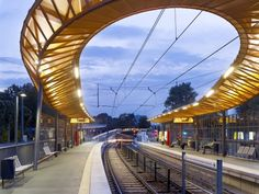 a bridge and a loop roof   Courtesy of RÜBSAMEN+PARTNER