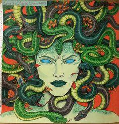Creepy Medusa! #Mythomorphia by Kerby Rosanes. Prismacolors and Caran Dache Luminance. ❤️