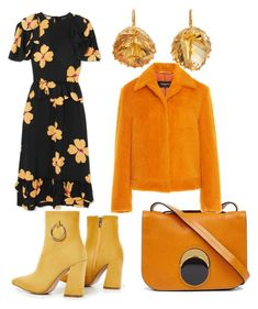 """""""citrine oranges"""" by muguet07 on Polyvore featuring Marni, Renee Lewis and Simone Rocha"""