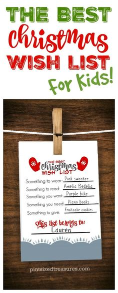 Encourage kids to be thoughtful this year in their Christmas wish list adventures! Check out this adorable printable that parents AND kids love! Print it out, fill it out and hand it on your fridge! It's cute enough to frame as well as a keepsake! ♥