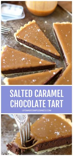 You won't be able to resist this salted caramel bittersweet chocolate tart! It's so incredibly smooth and rich- and of course topped with homemade salted caramel. #saltedcaramelbittersweetchocolatetart #chocolatetart #saltedcarameltart #saltedcaramelandchocolatetart
