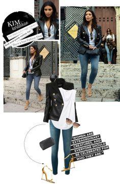 """1478. Celeb Style : Kim Kardashian (17.03.2014)"" by munarina on Polyvore"