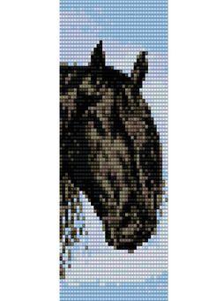 Beads loom stitch pattern- Horses cuff bracelet pattern, PDF file pattern ,Delica seed beads pattern    Bracelet used size #11 Delica beads,10