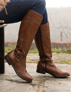 Leather Knee High Riding Boot, from Celtic & Co
