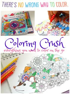 Klutz's Coloring Crush has everything you need to color on the go!