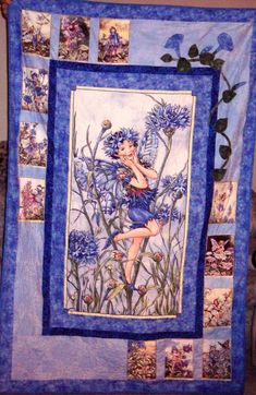 Cornflower Fairy Quilt - I am making this for my daughter!