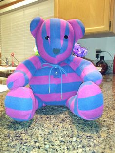 Memory bear . Made from old favorite shirt.