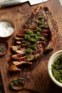 Grilled Bone-in Sirloin Steak with Gremolata