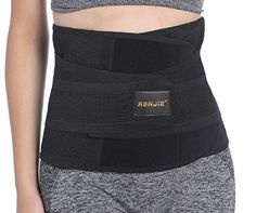 Renjie Waist Trimmer Trainer Cinchers Exercise Fitness Ab Belt for Men and Women *** Click image for more details.