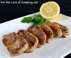 TRIED: For the Love of Cooking » Mediterranean Pork Medallions ---- This recipe was great so the only change I would make is to reduce the amount of lemon juice and/or zest by just a smidge