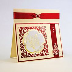 Just a simple card to share today after my last slightly more complicated one! For this card I used one of the Topper Dies from the Tonic. Tonic Christmas Cards, Christmas Tops, Xmas Cards, Handmade Christmas, Christmas Stuff, Christmas Ideas, Tonic Cards, Studio Cards, Embossed Cards