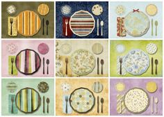 placemats- help children learn to set the table