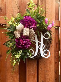Spring Wreaths for Front Door Spring Wreaths by FleursDeLaVie