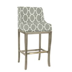 Marcello Barstool with Pewter Nailhead Trim