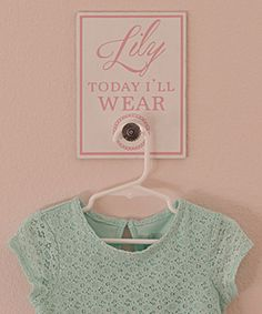 Look at this #zulilyfind! Pink 'Today I'll Wear' Personalized Wall Sign #zulilyfinds