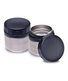 Take a look at this Black 8-Oz. Round Container - Set of Two by LunchBots on #zulily today!
