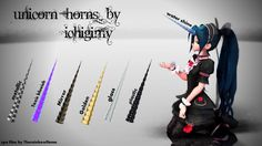 MMD Unicorn Horns DL by Ichigimy