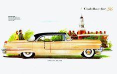 Cadillac Series 62 Sedan DeVille 1956 Boston - Mad Men Art: The 1891-1970 Vintage Advertisement Art Collection