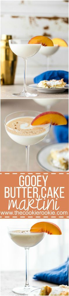 Gooey Butter Cake Martini