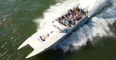 The Sanibel Thriller is a 43-passenger, 55' Super Catamaran billed as the area's most exciting boat tour and is part sightseeing tour, part historical tour, and a lot of dolphin spotting! Must Do Visitor Guides Fort Myers vacation information. MustDo.com