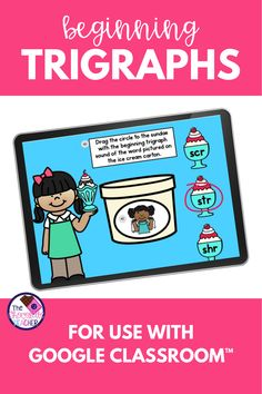 Are you looking for a fun activity to use in teaching trigraphs? This beginning trigraph digital Google Slides™ unit is a enjoyable way to practice these. These trigraph activities are perfect for first grade or 2nd grade for phonics teaching. Audio is included to help your students to be successful and able to complete the activity independently. Students will listen for the sounds and identify them or spell the words. Try these fun beginning trigraphs activities today! {second, ELA…