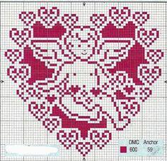 Schemi a punto croce gratuiti per tutti: Raccolta di schemi a punto croce a tema cuore-amore