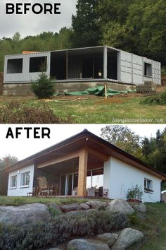 Shipping Container Cabin, Shipping Container Home Designs, Container House Design, Tiny House Design, Shipping Containers, Building A Container Home, Container Buildings, Container Architecture, Container House Plans
