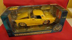 Vintage Yellow 1956 T Bird Scale 1 24  Die Cast by tennesseehills, $12.00