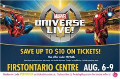NEW #MarvelUniverseLive #PromoCode for #HamONT Click the pic to get the details #marvel
