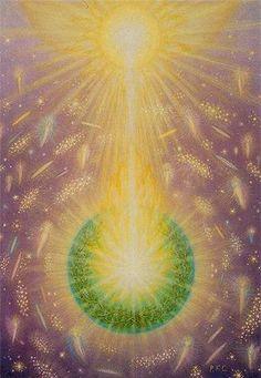 FichArt - Peter and Birgitte Fich Christiansen, Denmark Spiritual Paintings, Divine Light, New Earth, World Peace, Visionary Art, New Wall, Magick, Wicca, Light Art