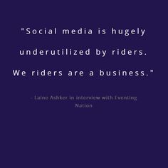 I love Laine Ashker because of her understanding of social media (if you jump, check out her Instagram #GOTDs).