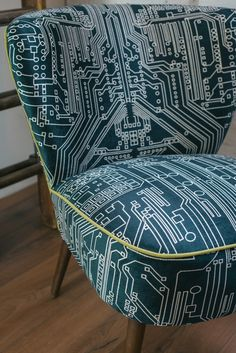 Cocktail Chair – Circuit Slate.....the contrasting piping