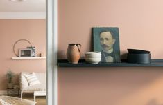 Introducing the Jotun Paints Rhythm of Life paint collection Bedroom Wall Colors, Wall Paint Colors, Wall Colours, Jotun Paint, Jotun Lady, Peach Walls, Home Libraries, Interior Decorating, Interior Design