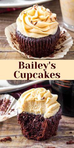 Gourmet Cupcake Recipes, Homemade Cupcake Recipes, Homemade Chocolate Cupcakes, Recipes Using Cake Mix, Cupcake Recipes From Scratch, Cake Filling Recipes, Bakery Recipes, Alcoholic Desserts, Alcoholic Cupcakes