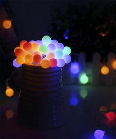 100 LED Waterproof Ball Christmas fairy lights with Remote Control Christmas Fairy Lights, Led Fairy Lights, Merry Christmas To You, Decorating With Christmas Lights, Holiday Lights, Simple Christmas, Christmas Decorations, Bedroom Decor Lights, String Lights In The Bedroom