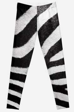 'Zebra Stripe Skin Print For Animal Lover ' Leggings by Bithys Online Awesome Leggings, Best Leggings, Iphone Wallet, Iphone Cases, Chiffon Tops, Contrast, Samsung Galaxy, Sticker, Canvas Prints