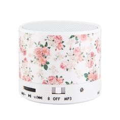 uCOLOR Untra Mini Portable Bluetooth Wireless Speaker Built-in Player Supporting to Play from Micro Sd Card/USB Thumb Drive (Floral) Estilo Swag, Pastel Designs, Mini Bluetooth Speaker, Built In Speakers, Portable, Sd Card, Phone Accessories, Audio, Stylish