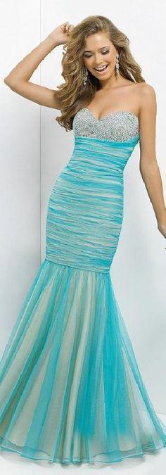 Cute Light Sky Blue Natural Tulle Sleeveless Sweetheart Evening Dress Sale klkdresses16548vng #longdress #promdress