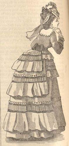 Peterson's 1870 walking dress