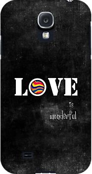 love by Ingz - #love #black #ingz #redbubble #words #samsung #galaxy #case #cool